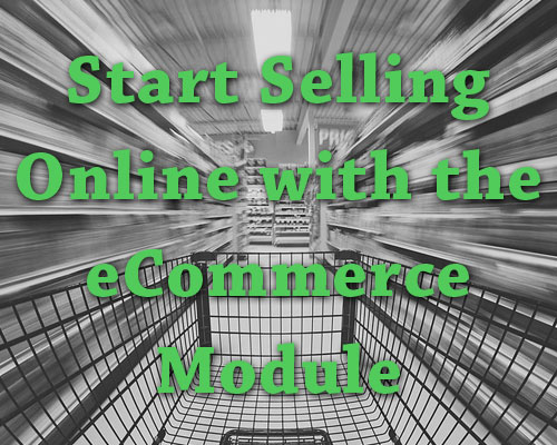 Start Selling Online with the eCommerce Module