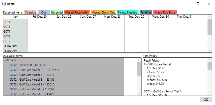 Scheduling Screenshot in EBMS