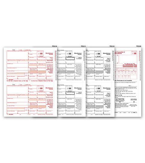 2017 1099 4 Part Misc Form